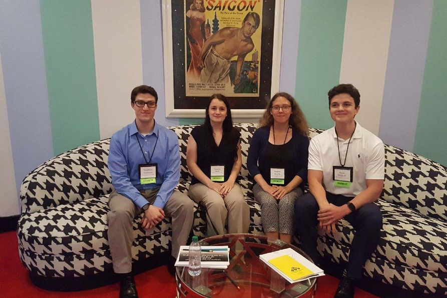 B&E accounting students got the opportunity to attend the 2018 West Virginia public Accountants Annual Meeting at The Greenbrier, thanks to the Robert Maust Student Experience Fund. Students attending the event included, from left, were Matthew Hartman, D