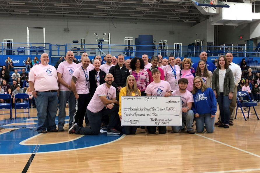Students at Buckhannon-Upshur High School recently raised $16,000 to honor a beloved teacher who is battling breast cancer.