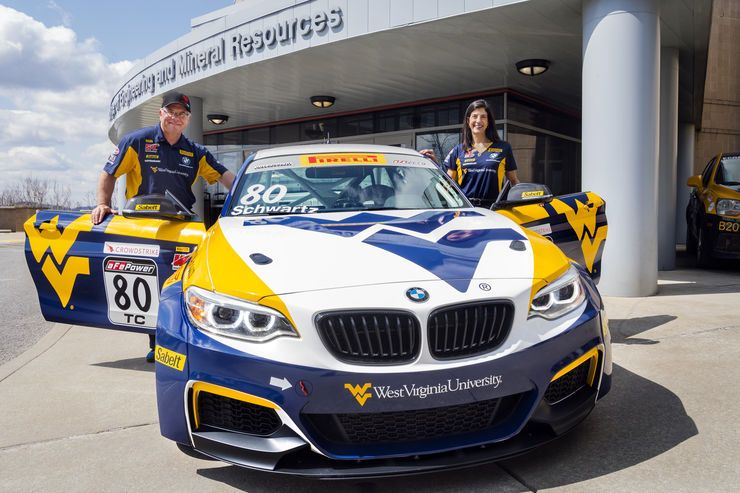 Todd and Michelle Brown with Rooster Hall Racing BMW M235iR