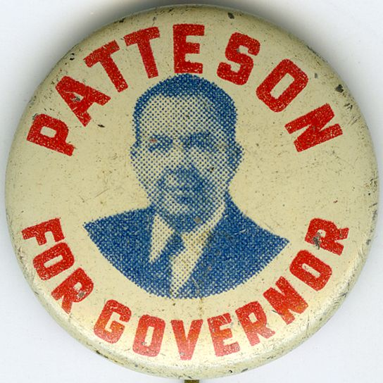 Patteson for governor campaign button