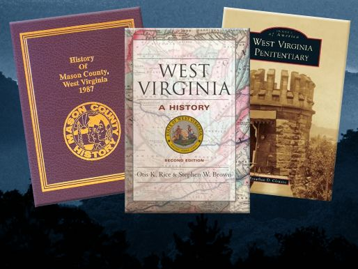 An image of three books related to West Virginia history