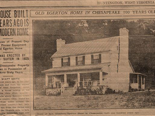 A WV newspaper with a photograph of a house on the page