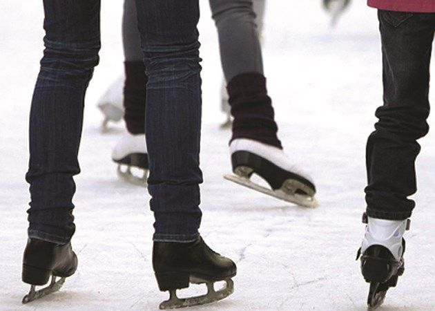 Recreational Skaters at a session