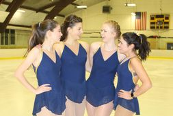 Intercollegiate skating team members