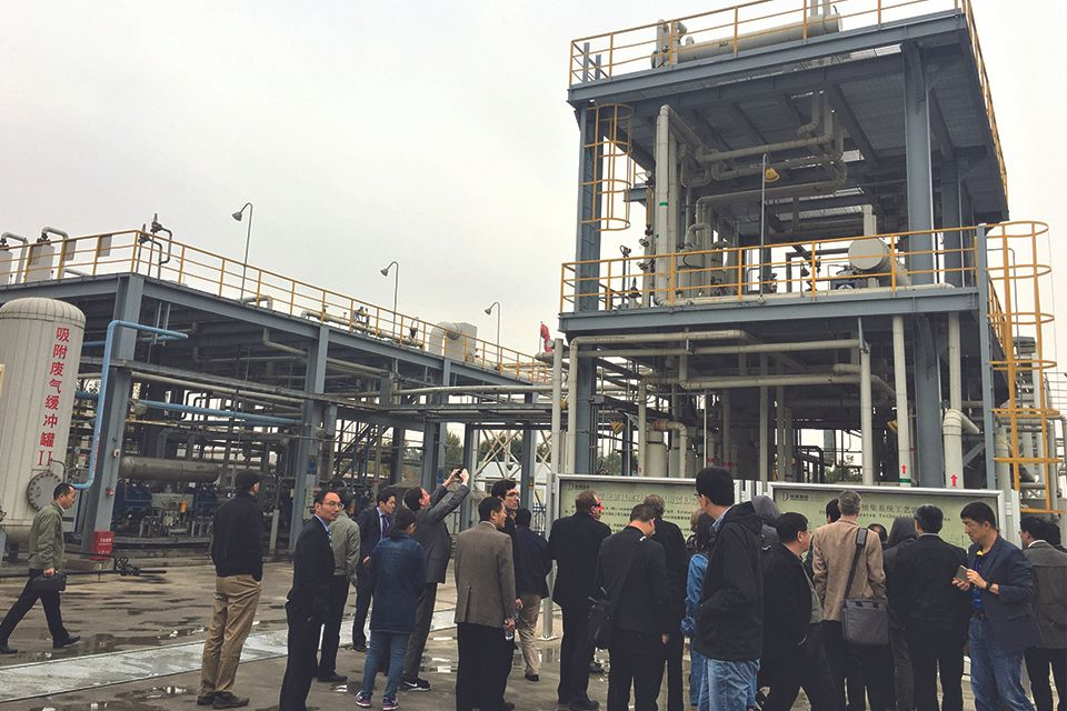 WVU researchers tour powerplant in Shanxi, China