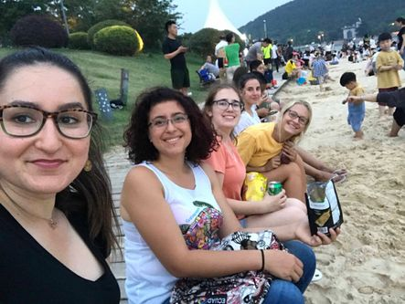WVU students visit beach in China