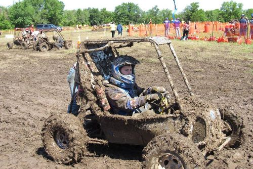 WVU compete in a muddy Endruance Even during the 2017 Baja Competition in Kansas.