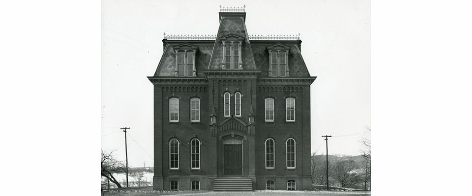 WVU Law - Woodburn Hall circa 1890 - WV Regional History Center