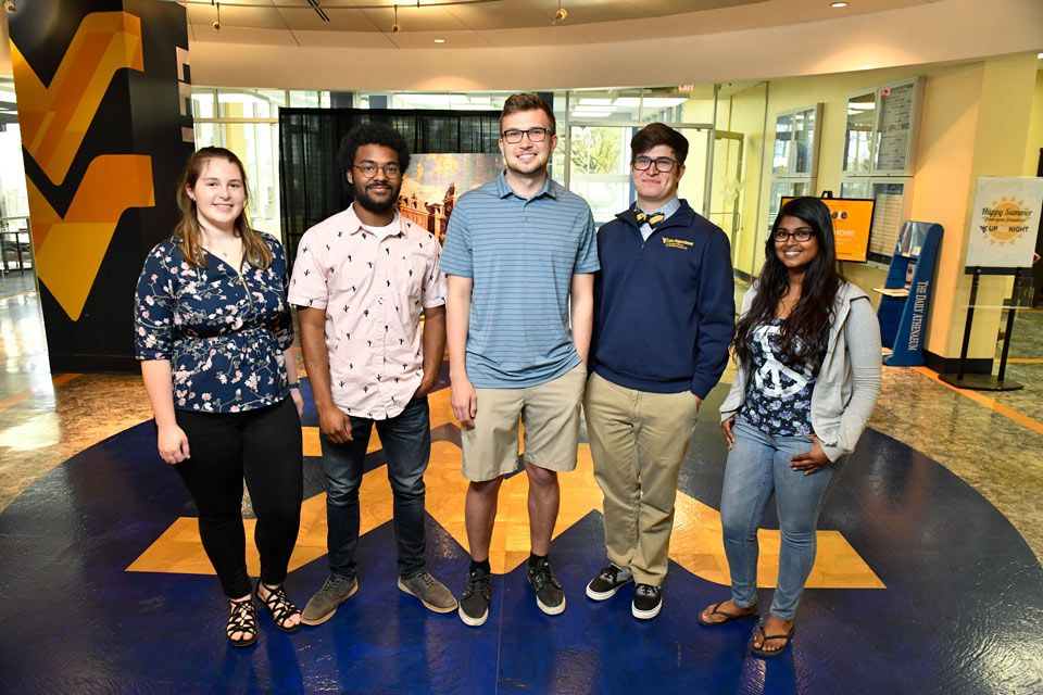 WVU had 5 advanced students take deep dives into STEM research through NIST SURF.