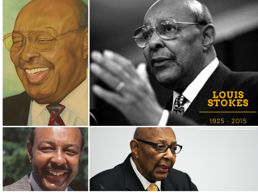 Louis Stokes portrait collage