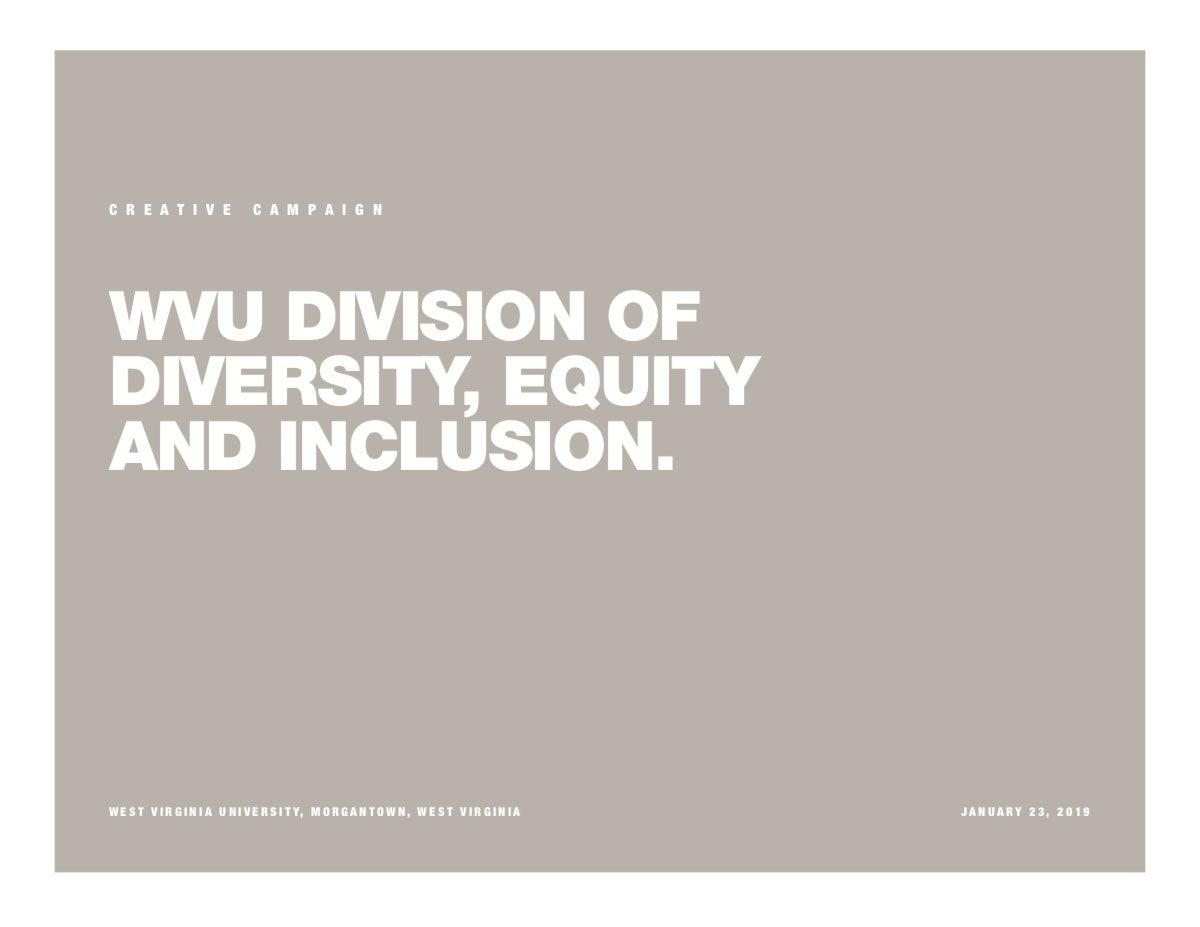 Cover for Diversity creative campaign. Shows the title of the campaign.