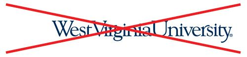 WVU logo without the Flying WV