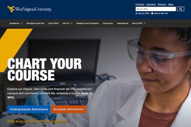WVU Home Page screenshot