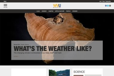 WVU Magazine website thumbnail