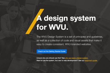 WVU Design System screenshot
