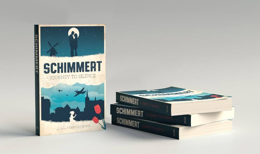 A stack of Terry's book, Schimmert: Journey to Silence