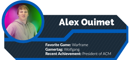 A gamercard featuring Alex Ouimet.