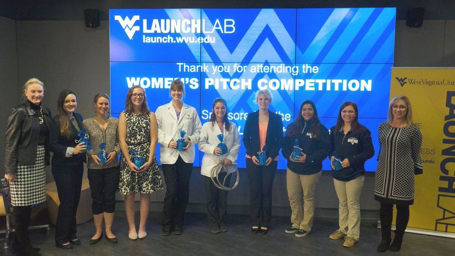 Students at Women's pitch competition