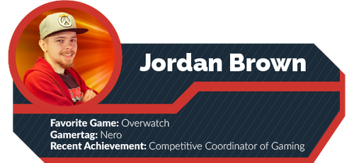 A gamercard depicting Jordan Brown.