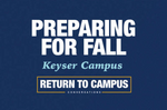 Preparing for fall at WVU Potomac State College