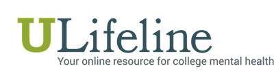 """ULifeline is an anonymous, confidential, online resource center, where college students can be comfortable searching for the information they need and want regarding emotional health.""U Lifeline"