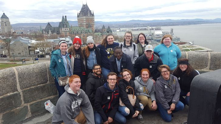Students from all three West Virginia University campuses – Beckley, Keyser and Morgantown, recently traveled to Quebec City, Canada for an international experience in learning.  Students taking part in the trip included, front row (l-r): Michael Dewitt,