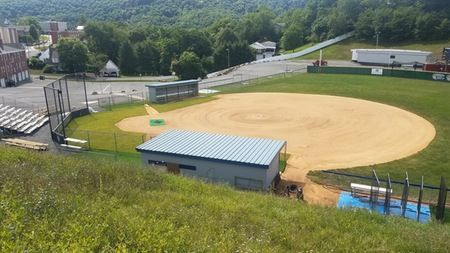 New sod installed around home plate and in front of the dugouts reduces run-off while improving the playing surface and aesthetics at the PSC softball field.