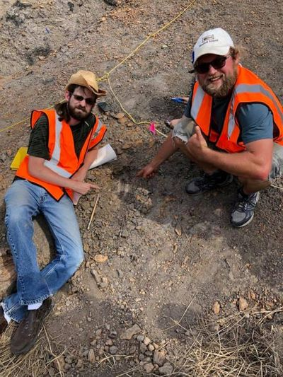 Geology/Biology Instructor Nathan Van Vranken was in for a big surprise when he visited Dinosaur Park in Laurel, MD. The park staff needed his help to excavate a 120 million-year-old dinosaur bone more than a foot long. The find was a huge win for Dinosau
