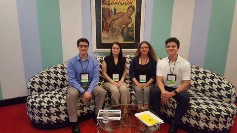 B&E accounting students got the opportunity to attend the 2018 West Virginia Society of Certified Public Accountants Annual Meeting at The Greenbrier, thanks to the Robert Maust Student Experience Fund. Students attending the event included, from left, we