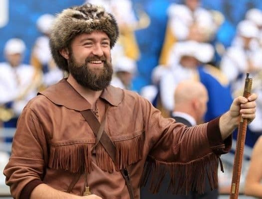Trevor Kiess as the Mountaineer Mascot