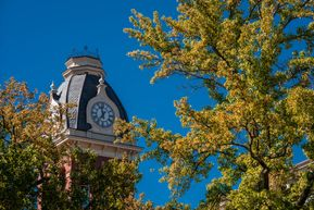 Link to wallpaper of Woodburn Hall clock tower