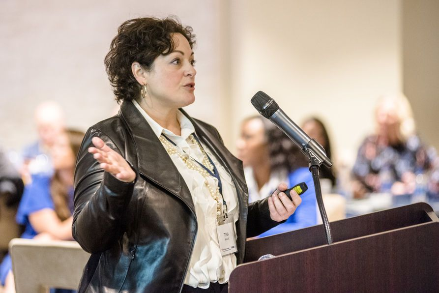MSIR program alum Tina Bigalke, PepsiCo's senior vice president of HR for Frito Lay North America, returned to the WVU campus last week to help commemorate the 60th anniversary of the program.