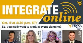 So you still want to work in event planning? Integrate Online