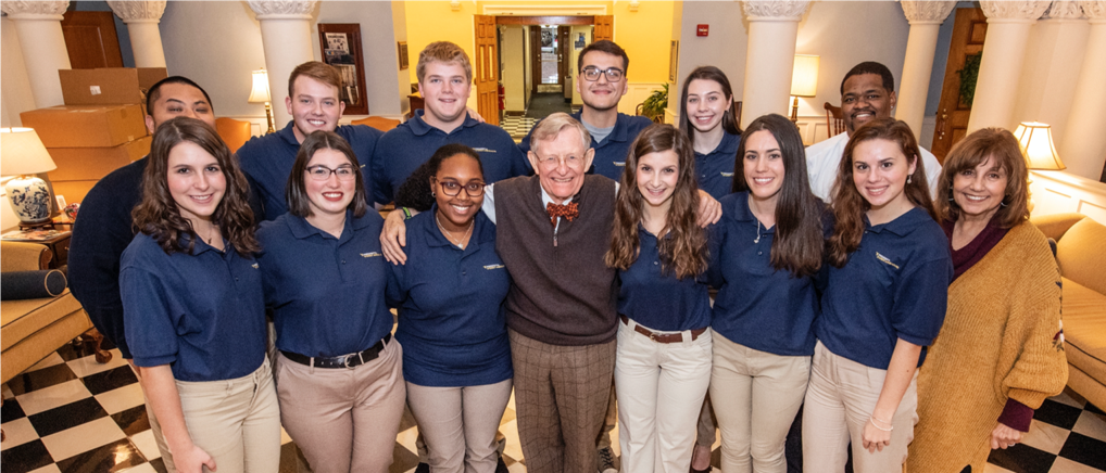 President Gordon Gee and Dr. Carolyn Atkins with PSA Cohort 2 Students