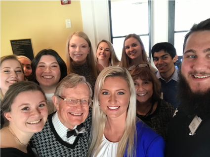 Selfie with PSAs (Cohort 1) and President Gee – Spring 2019