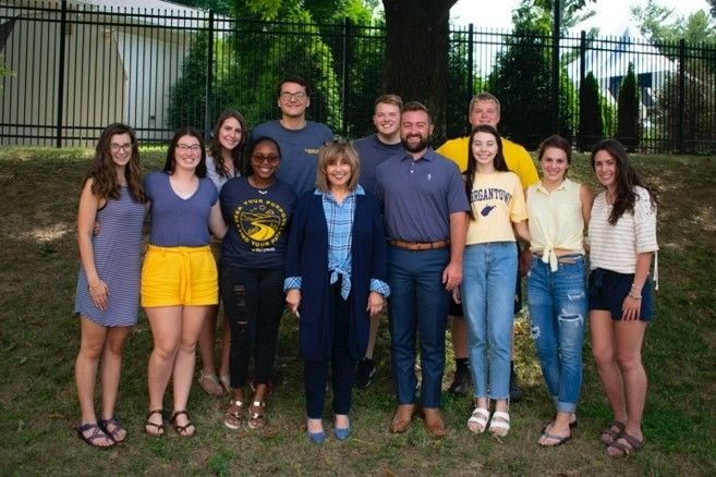 "PSAs (Cohort 2) with former Mountaineer Mascot, Trevor Kiess, after he spoke about ""The Mountaineer as a Leader."""