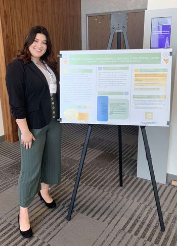 "In October 2019, PSA Taylor Miller presented ""The Art of Spoken Communication Services in the Writing Center,"" at the International Writing Center Association's National Conference for Peer Tutoring in Writing in Columbus, Ohio."