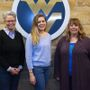 Dr. Frankie Tack and Dr. Jessica Trolio with former WVU faculty Sara Anderson