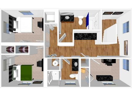 second level of 3 bedroom townhome