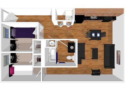 University Place 2 bedroom townhome