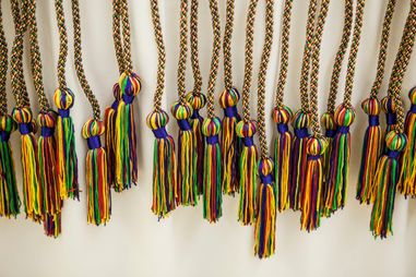 Multicolored tassels