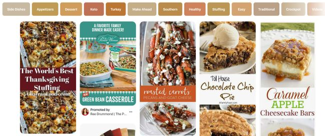 Pinterest Marketing during recipe pinning season