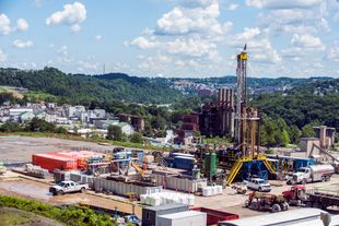 Drilling site of the Marcellus Shale Energy and Environment Lab