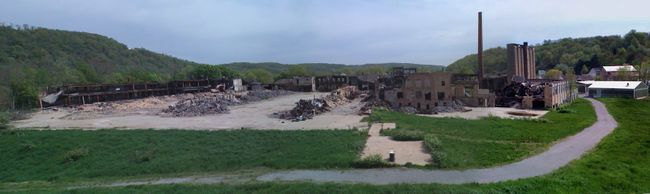 A 'before' shot of the Taylor, Smith and Taylor pottery site in Chester, West Virginia. (Submitted photo)