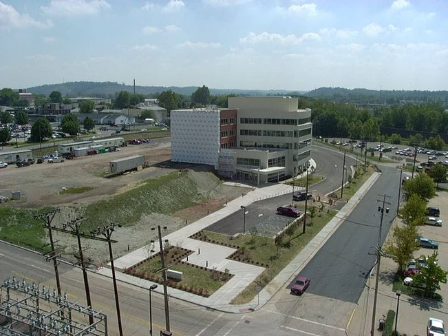 An 'after' shot of a former coal and gas plant transformed into office space in Parkersburg, West Virginia. (Submitted photo)
