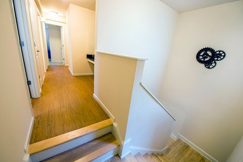 staircase in townhouse showroom