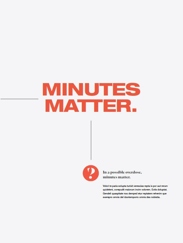 Third poster in a series reading Minutes matter