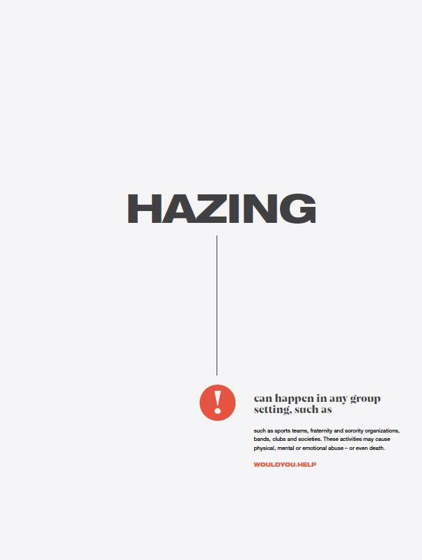 3rd poster in 3rd series headlined Hazing