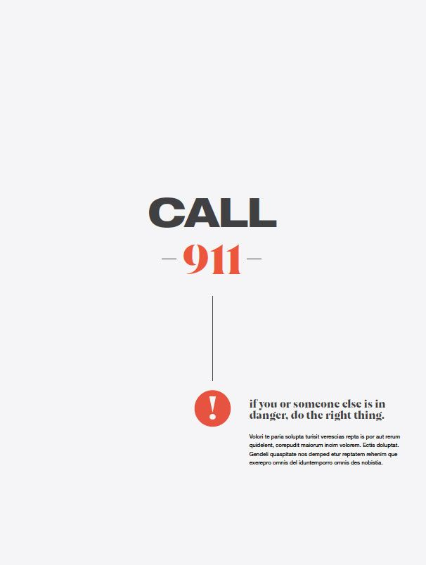 2nd poster in 2nd series reading Call 911