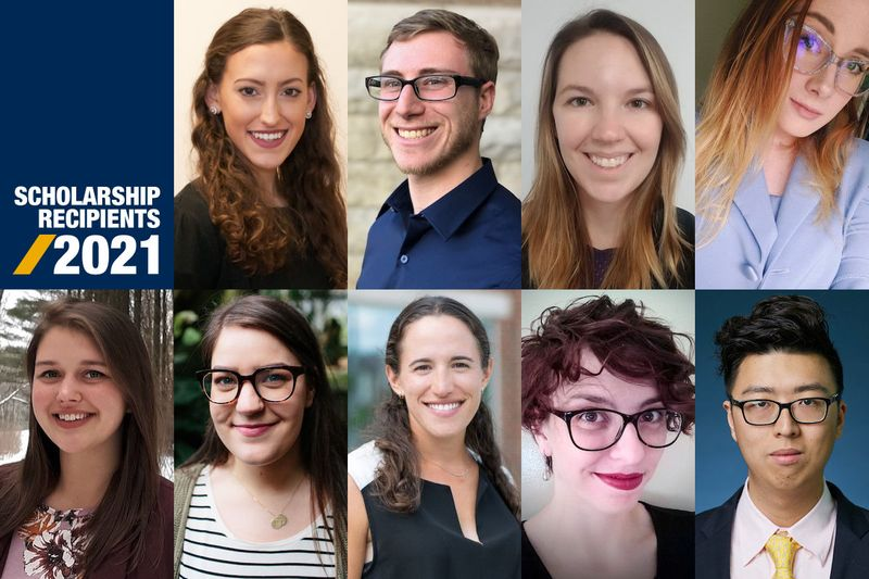 Portraits of the recipients of the WVU Foundation scholarships